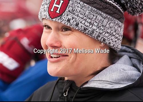 Liz Keady (Harvard - Assistant Coach) - The Harvard University Crimson practiced at Fenway on Monday, January 9, 2017, in Boston, Massachusetts.