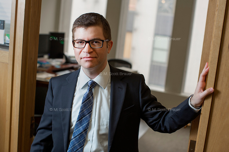 Dr. David Andrew Singer is an Associate Professor of Political Science at MIT, photographed here in Building E53 at MIT in Cambridge, Massachusetts, USA. Singer's research focuses on international financial regulation.
