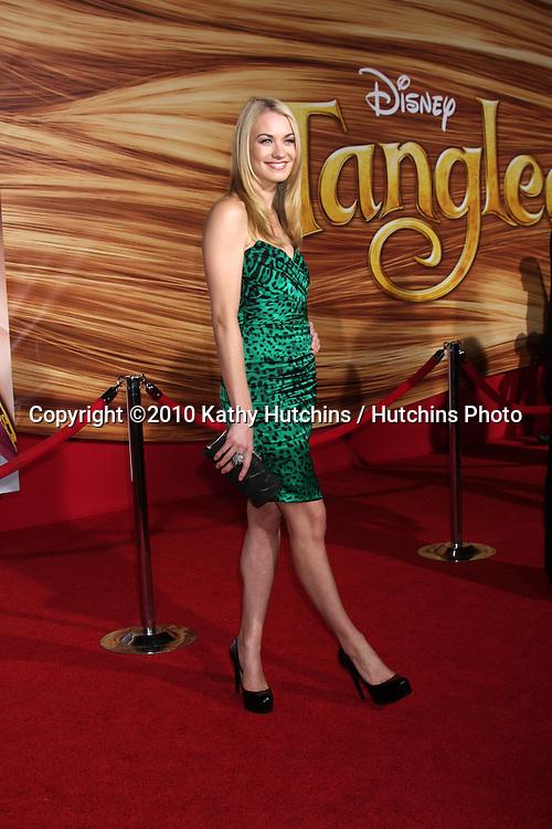 "LOS ANGELES - NOV 14:  Yvonne Strahovski arrives at the ""Tangled"" World Premiere at El Capitan Theater on November 14, 2010 in Los Angeles, CA"