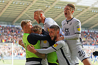 Ben Wilmot of Swansea City celebrates his goal with team mates during the Sky Bet Championship match between Swansea City and Cardiff City at the Liberty Stadium, Swansea, Wales, UK. Sunday 27 October 2019