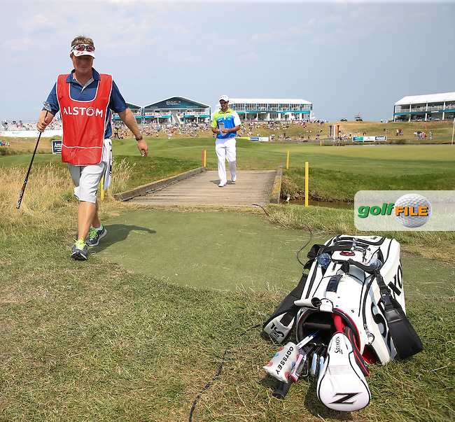 Jaco Van Zyl (RSA) leaves the 15th leading the field during Round Three of the 2015 Alstom Open de France, played at Le Golf National, Saint-Quentin-En-Yvelines, Paris, France. /04/07/2015/. Picture: Golffile | David Lloyd<br /> <br /> All photos usage must carry mandatory copyright credit (&copy; Golffile | David Lloyd)