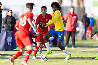 LAKEWOOD RANCH, FL - November 28, 2018: Brazil Under-17 Men's National Team vs Turkey in its first match of the 2018 Nike International Friendlies.