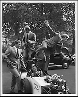 BNPS.co.uk (01202 558833).Pic: FameBureau/BNPS..Beach Boys in Paris - mid sixties...Get me Wonga.....A 'lost' archive of original music manuscripts, contracts and pictures of the Beach Boys has emerged for sale for nearly seven million pounds...The vast collection, that spans the first 20 years of the band's hugely successful career and consists of thousands of documents, was found forgotten in a storage unit...The treasure trove includes the sheet music for the Beach Boys' classic hits like 'God Only Knows', 'Good Vibrations' and 'Fun, Fun, Fun.'..It also includes handwritten lyrucs, recording contracts and copyright certificates signed by Brian Wilson and Mike Love, musical arrangements, royalty cheques and personal letters...And there are more than 60 behind-the-scenes photos of the hugely successful American rock band, many of them never seen before..