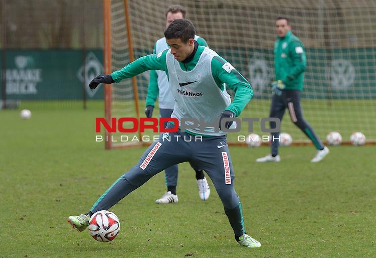 31.03.2015, Trainingsgelaende, Bremen, GER, 1.FBL, Training Werder Bremen, im Bild Franco Di Santo (Bremen #9)<br /> <br /> Foto &copy; nordphoto / Frisch
