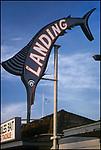 Sport fishing sign on  Redondo Beach Pier, Los Angeles, CA