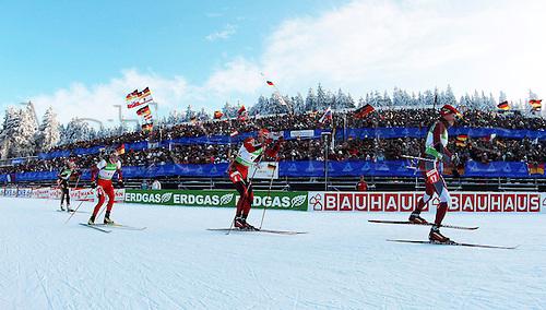 07 01 2010  Oberhof  Biathlon World Cup Oberhof and Peiffer ger Dominic Landertinger AUT Emil Hegle Svendsen NOR and Kaspars  LAT Biathlon men World Cup 2009 2010 Oberhof