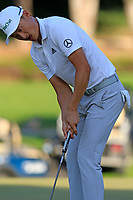 Haotong Li (CHN) birdie putt on the 17th green during Sunday's Final Round of the 2018 Turkish Airlines Open hosted by Regnum Carya Golf &amp; Spa Resort, Antalya, Turkey. 4th November 2018.<br /> Picture: Eoin Clarke | Golffile<br /> <br /> <br /> All photos usage must carry mandatory copyright credit (&copy; Golffile | Eoin Clarke)