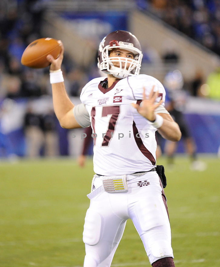 TYLER RUSSELL, of the Mississippi State Bulldogs, in action during Mississippi's game against the Kentucky Wildcats on October 29, 2011 at Commonwealth Stadium in Lexington, KY. Mississippi State beat Kentucky 28-16.