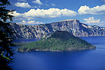 Wizard Island in Crater Lake, Crater Lake National Park, Oregon
