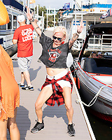 KNOXVILLE, TN - OCTOBER 5: Georgia fan prior to the game during a game between University of Georgia Bulldogs and University of Tennessee Volunteers at Neyland Stadium on October 5, 2019 in Knoxville, Tennessee.