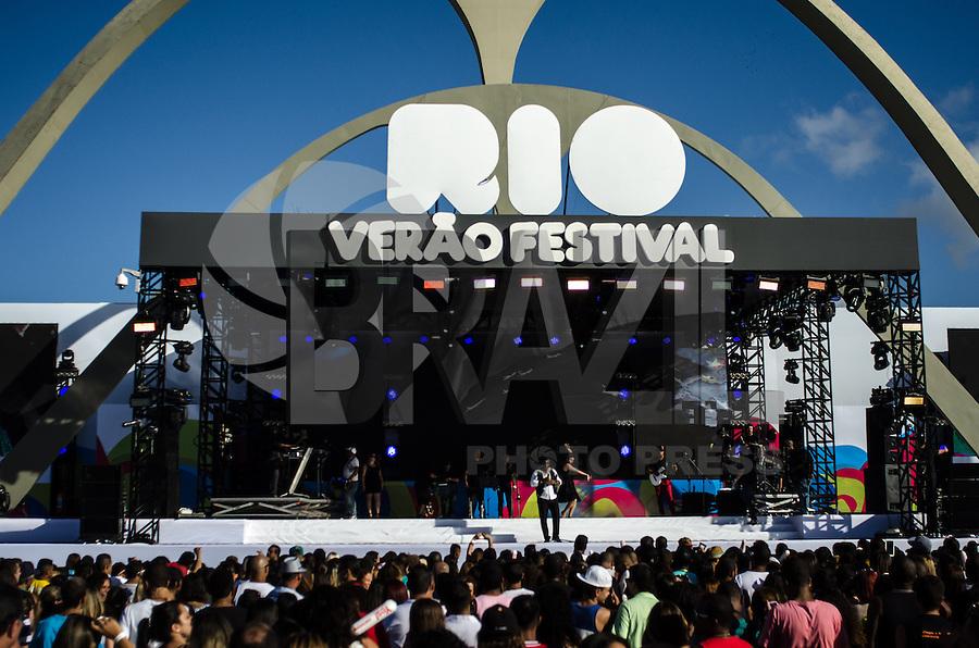 Rio de Janeiro 05/04/2014 -RIO VERAO FESTIVAL 2014- Apresentacao do grupo Raca Negra durante o Rio Verao Festival na Apoteose no Rio de Janeiro neste sabado, 05.<br /> Foto: Tercio Teixeira/Brazil Photo Press