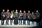 """Chinese actor Wu Hsing-Kuo with the musicians during the theater play of """"King Lear"""" at Teatros del Canal in Madrid. May 27, 2016. (ALTERPHOTOS/Borja B.Hojas)"""