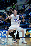 January 24, 2017:  Air Force center, Frank Toohey #33, controls the lane during the NCAA basketball game between the San Diego State Aztecs and the Air Force Academy Falcons, Clune Arena, U.S. Air Force Academy, Colorado Springs, Colorado.  Air Force defeats San Diego State 60-57.