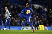 Callum Hudson-Odoi of Chelsea warms up ahead of kick-off during Chelsea vs Newcastle United, Premier League Football at Stamford Bridge on 12th January 2019