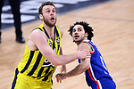Turkish Airlines Euroleague.<br /> Final Four - Vitoria-Gasteiz 2019.<br /> Semifinals.<br /> Fenerbahce Beko Istanbul vs Anadolu Efes Istanbul: 73-92.<br /> Nicolo Melli vs Shane Larkin.