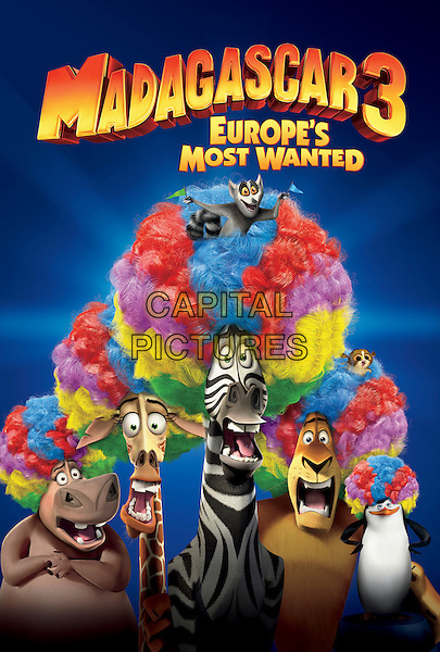 POSTER ART.in Madagascar 3: Europe's Most Wanted.*Filmstill - Editorial Use Only*.CAP/FB.Supplied by Capital Pictures.