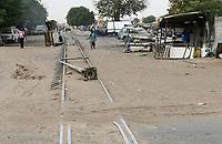 SENEGAL, Kaolack, abandoned railway line Dakar - Bamako / Gleise der stillgelegten Bahnlinie Dakar-Bamako
