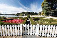 English Camp gardens and blockhouse, San Juan Island, Washington