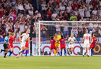 LYON,  - JULY 2: Kelley O'Hara #5 celebrates the PK save of Alyssa Naeher #1 with Alex Morgan #13 during a game between England and USWNT at Stade de Lyon on July 2, 2019 in Lyon, France.