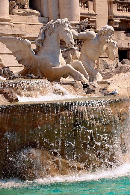 The Baroque Trevi Fountain. Rome