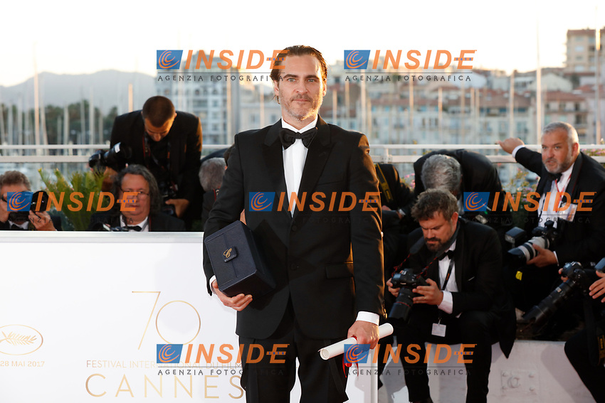 Joaquim Phoenix<br /> 28-05-2017 Cannes <br /> 70ma edizione Festival del Cinema <br /> Awards night . Serata Finale <br /> Foto Panoramic/Insidefoto