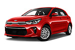 Stock pictures of low aggressive front three quarter view of 2017 KIA Rio Fusion 5 Door Hatchback Low Aggressive