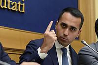 Roma, 2 Ottobre 2018<br /> Luigi Di Maio.<br /> Conferenza stampa di Movimento 5 Stelle e Lega per la presentazione delle proposte di riforma costituzionale e diminuzione del numero dei parlamentari