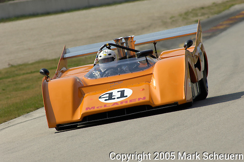 Pierre Mulacek races his 1971 McLaren M8F at the Brian Redman International Challenge at Road America, 2005.