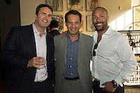 Gerry Walters, Teddy Greenspan, and Sean George attend CoachArt Children's Benefit at Terra Gallery on May 1, 2014. (Photo by Alex Shonkoff/Guest Of A Guest)