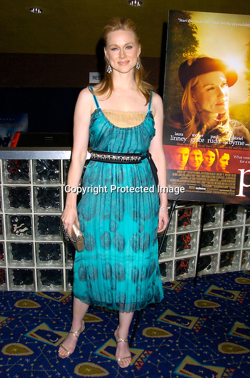 "Laura Linney ..at the New York Premiere of ""ps"" on October 12, 2004 ..at the Clearview Chelsea West. ..Photo by Robin Platzer, Twin Images"