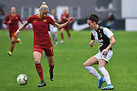 Kaja Erzen (Roma) and Barbara Bonansea (Juventus) <br /> <br /> <br /> Roma 24/11/2019 Stadio Tre Fontane <br /> Football Women Serie A 2019/2020<br /> AS Roma - Juventus <br /> Photo Andrea Staccioli / Insidefoto