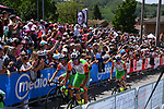 Bardiani CSF team arrives at sign on before the start of Stage 14 of the 100th edition of the Giro d'Italia 2017, running 131km from Castellania to Oropa, Italy. 20th May 2017.<br /> Picture: LaPresse/Gian Mattia D'Alberto | Cyclefile<br /> <br /> <br /> All photos usage must carry mandatory copyright credit (&copy; Cyclefile | LaPresse/Gian Mattia D'Alberto)