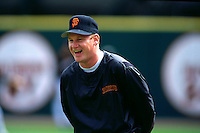 SAN FRANCISCO, CA - Matt Williams of the San Francisco Giants laughs during batting practice before a game at Candlestick Park in San Francisco, California in 1994. Photo by Brad Mangin