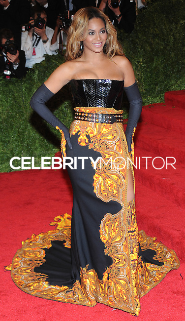 "NEW YORK, NY - MAY 06: Beyonce (Beyonce Knowles) arrives at the ""PUNK: Chaos To Couture"" Costume Institute Gala held at the Metropolitan Museum of Art on May 6, 2013 in New York City. (Photo by Celebrity Monitor)"