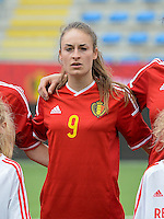 20150523 - SINT-TRUIDEN ,  BELGIUM : Belgian Tessa Wullaert pictured during the friendly soccer game between the Belgian Red Flames and Norway, a preparation game for Norway for the Women's 2015 World Cup, Saturday 23 May 2015 at Staaien in Sint-Truiden , Belgium. PHOTO DAVID CATRY