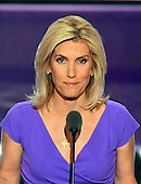 Laura Ingraham, Conservative Political Commentator, makes remarks at the 2016 Republican National Convention held at the Quicken Loans Arena in Cleveland, Ohio on Wednesday, July 20, 2016.<br /> Credit: Ron Sachs / CNP<br /> (RESTRICTION: NO New York or New Jersey Newspapers or newspapers within a 75 mile radius of New York City)