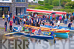 Making their way from the slipway at Cahersiveen Regatta on Sunday were the Templenoe seine boat crew watched by some of the many spectators.