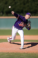 Matt Vaughn (22) of the Clemson Tigers comes in to close out the Tigers 12-11 come from behind victory over the Wake Forest Demon Deacons during the second game of a double header at Gene Hooks Stadium in Winston-Salem, NC, Sunday, March 9, 2008.