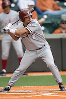Stanford outfielder Tyler Gaffney (7) at bat against the Texas Longhorns on March 4th, 2011 at UFCU Disch-Falk Field in Austin, Texas.  (Photo by Andrew Woolley / Four Seam Images)