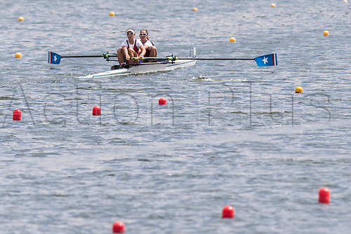 June 16th 2017; Poznan, Poland; 2017 World Rowing Cup II;  Kathrin Roach, Sophia Vitas (USA) Womens Twos