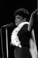 File Photo -   Eartha Kitt  in the eighties. Exact date unkonwn.<br /> <br /> <br /> <br /> photo  : Harold Beaulieu<br />  -  Agence Quebec Presse