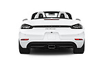 Straight rear view of a 2017 Porsche 718 Boxster 2 Door Convertible stock images