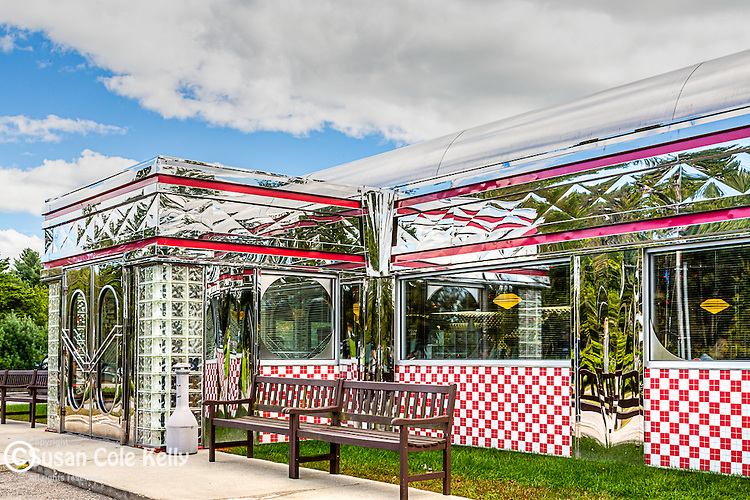The Blast from the Past Diner in East Waterboro, Maine, USA