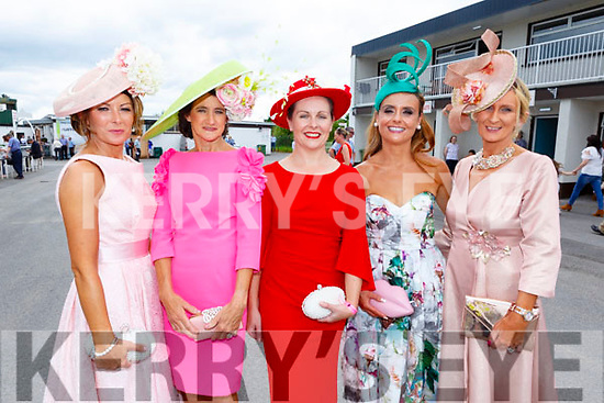 Ladies Day at the Listowel Races on Sunday. <br /> Siobhan Kennedy (Turnafulla), Mary Kelliher (Killorglin), Eilish Ryan (Tipperary), Tasha O'Connor (Templeglantine) and Breda Butler (Tipperary).
