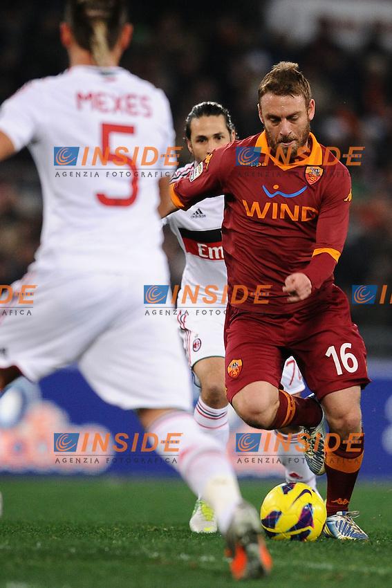 Daniele De Rossi Roma.22/12/2012 Roma.Stadio Olimpico.Football Calcio 2012 / 2013 .Campionato di Calcio Serie A.Roma vs Milan.Foto Insidefoto / Antonietta Baldassarre.