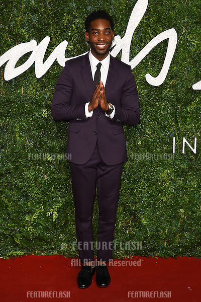 Tinie Tempah arrives for British Fashion Awards 2014 at the London Coliseum, Covent Garden, London. 01/12/2014 Picture by: Steve Vas / Featureflash