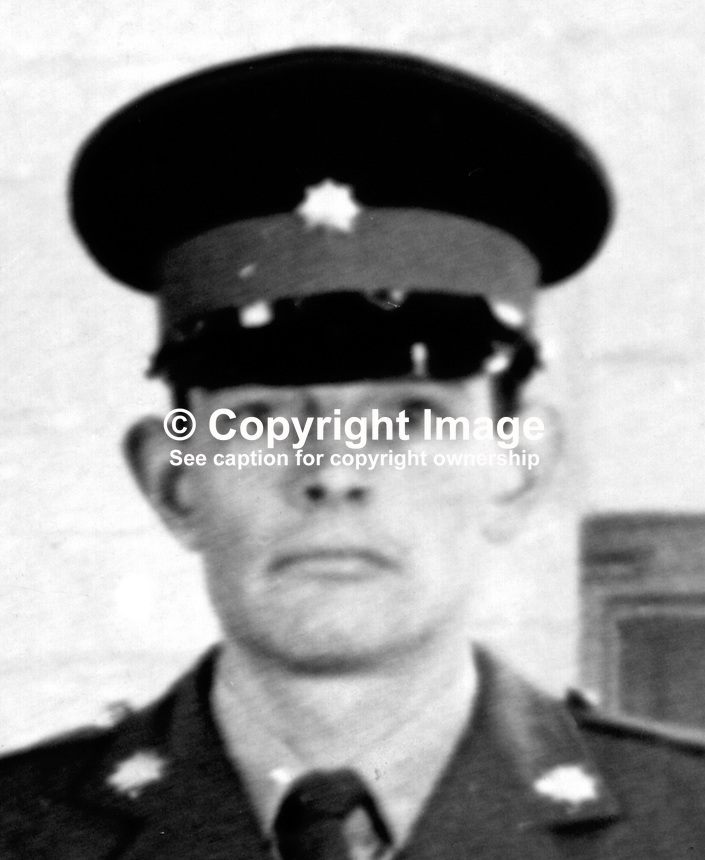 Private Roger Wilkins, from Hastings, Sussex, England, who was shot by a Provisional IRA sniper in Bishop Street, Londonderry, on 27th September 1971. He died from his injury in the Royal Victoria Hospital, Belfast, on 11th October 1971. 197110110401<br />