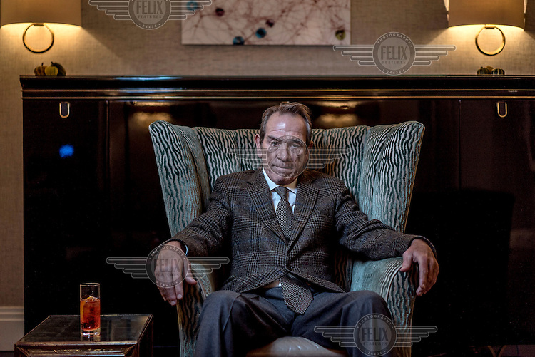 Actor Tommy Lee Jones photographed in central London.