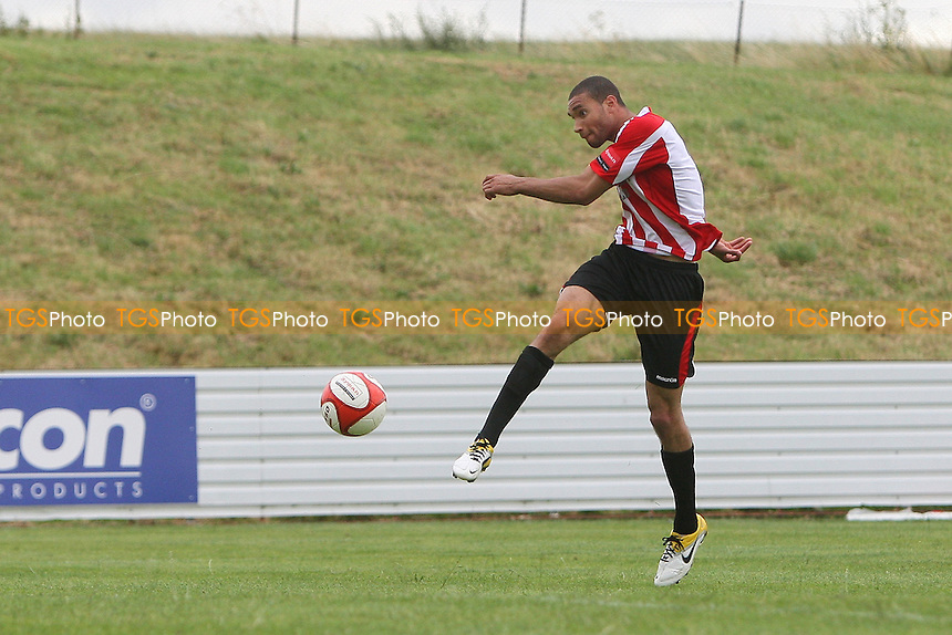 Aaron Gayle scores the second goal for Hornchurch - Maldon & Tiptree vs AFC Hornchurch - Pre-Season Football Friendly Football at The Wallace Binder Stadium - 16/07/11 - MANDATORY CREDIT: Gavin Ellis/TGSPHOTO - Self billing applies where appropriate - Tel: 0845 094 6026 - contact@tgsphoto.co.uk