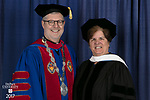 The Rev. Dennis H. Holtschneider, C.M., president of DePaul, left, and honorary degree recipient Sister Margaret Mary Fitzpatrick, S.C., president and CEO of St. Thomas Aquinas College in New York. DePaul University College of Education held its commencement ceremony, Saturday, June 10, 2017, at the Rosemont Theatre in Rosemont, IL. The Rev. Dennis H. Holtschneider, C.M., president of DePaul, conferred the degrees. (DePaul University/Jeff Carrion)